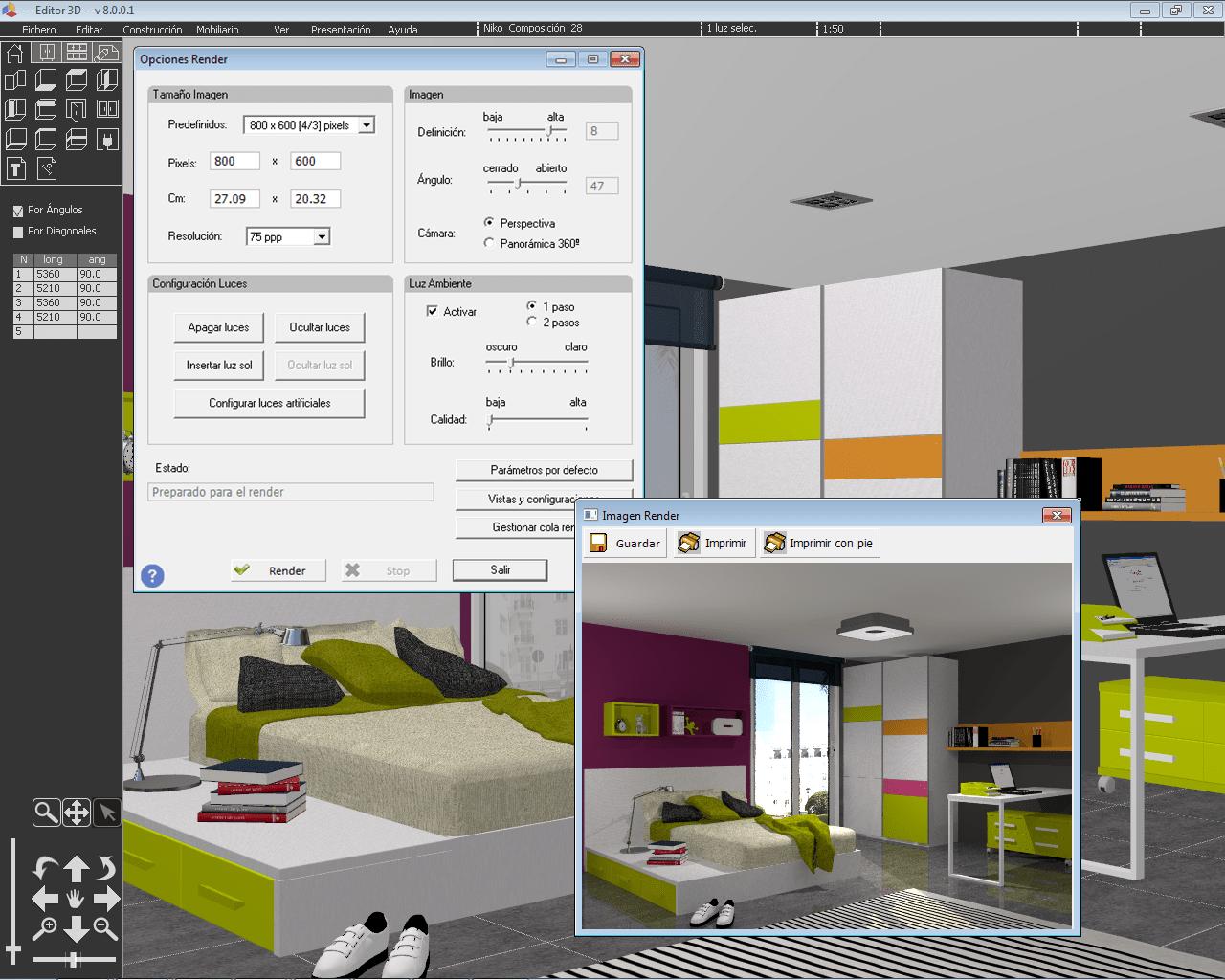 Software 3D diseño de muebles